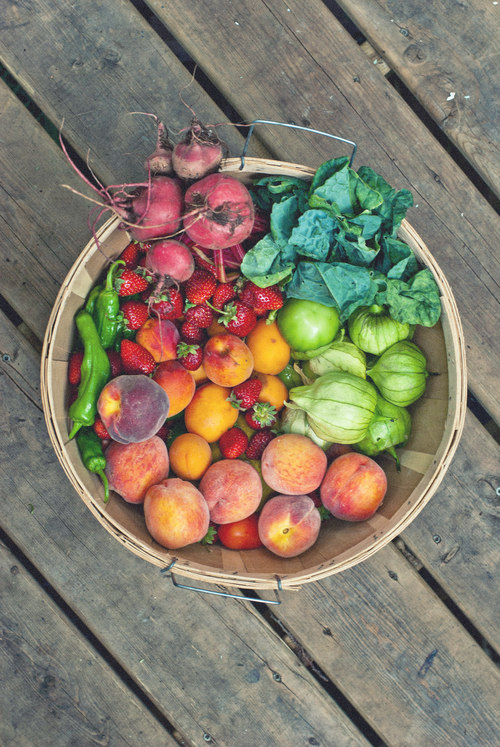 colourful food basket