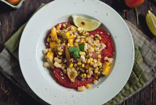 caramelized corn salad