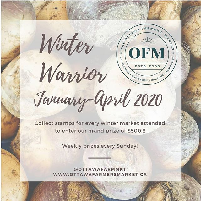 Hi #Ottawa! Start 2020 off the right way with fresh, local and sustainable produ